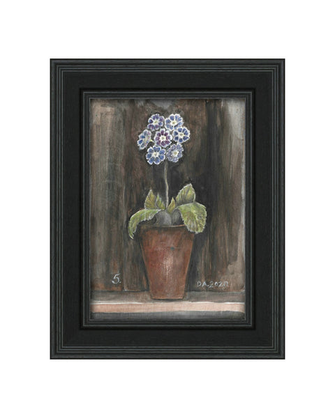 Auricula No.5 - Original Framed Painting