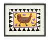 Chicken with Chicks No.2 (Framed Collage on Board)