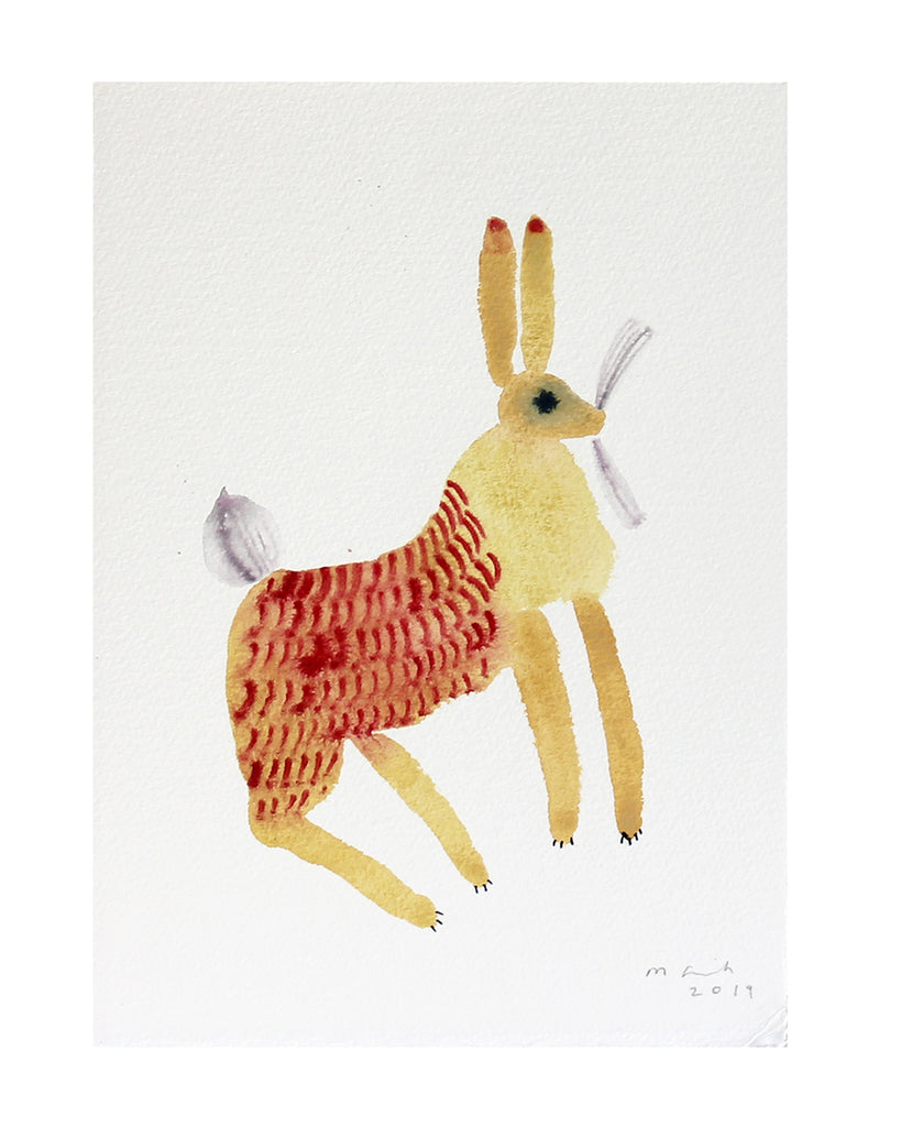 Yellow Hare (Original Watercolour)
