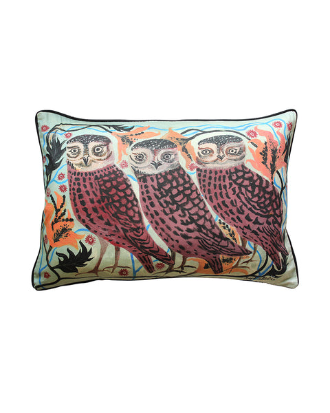 Large Cushion cover: Three Owls