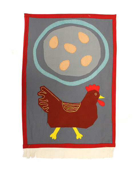Eggs and Chicken (Original Appliquéd Panel)