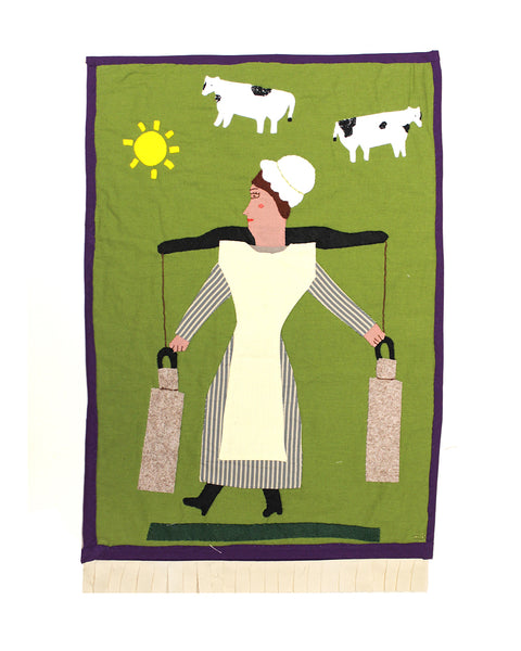Milk Maid (Original Appliquéd Panel)