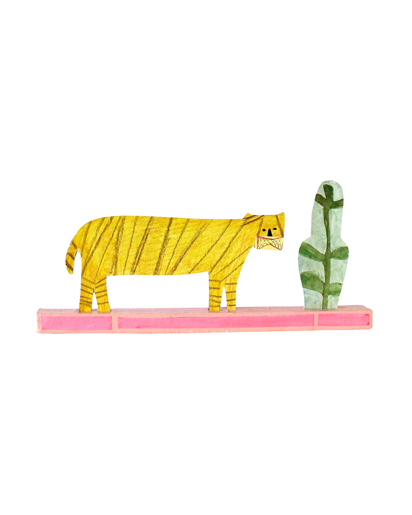 Cardboard Sculpture: PINK TIGER