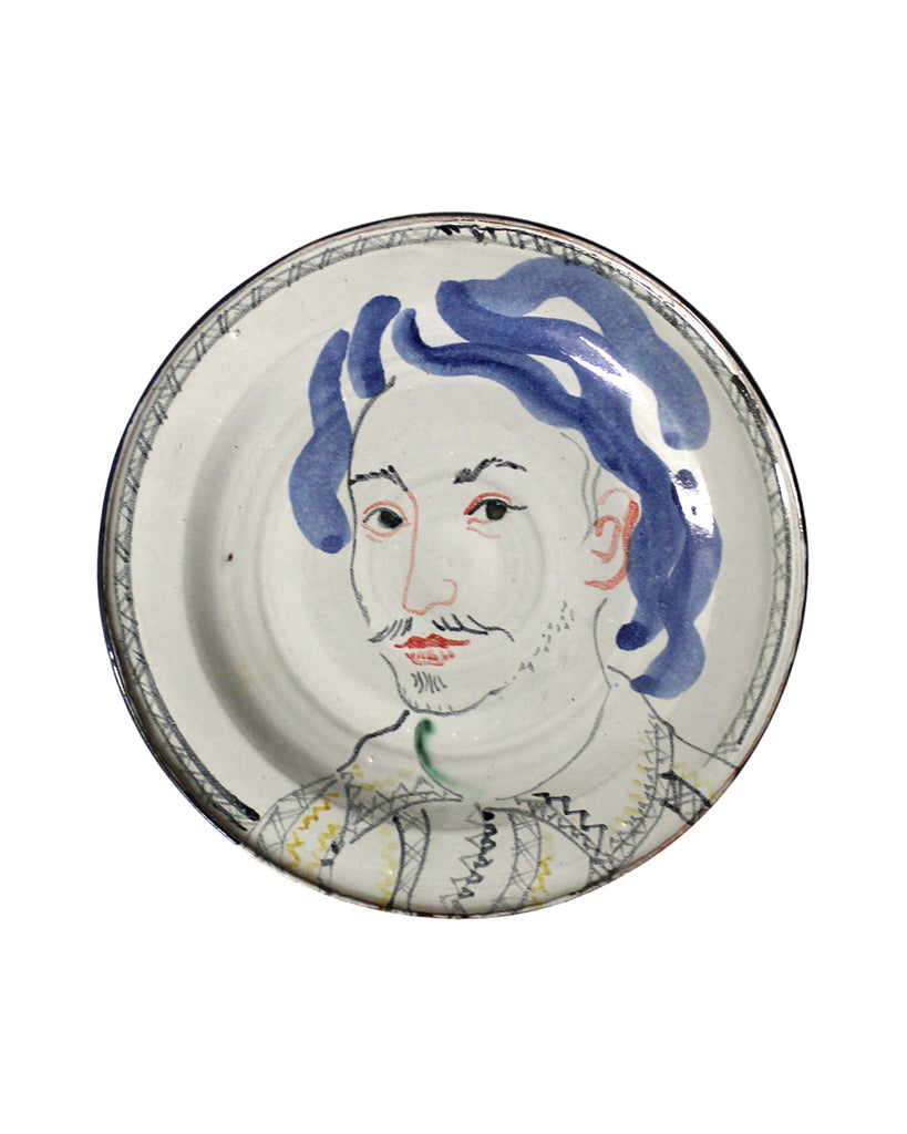 Painted Face Plate: Nathan Field