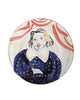 Painted Face Plate: Christopher Marlowe