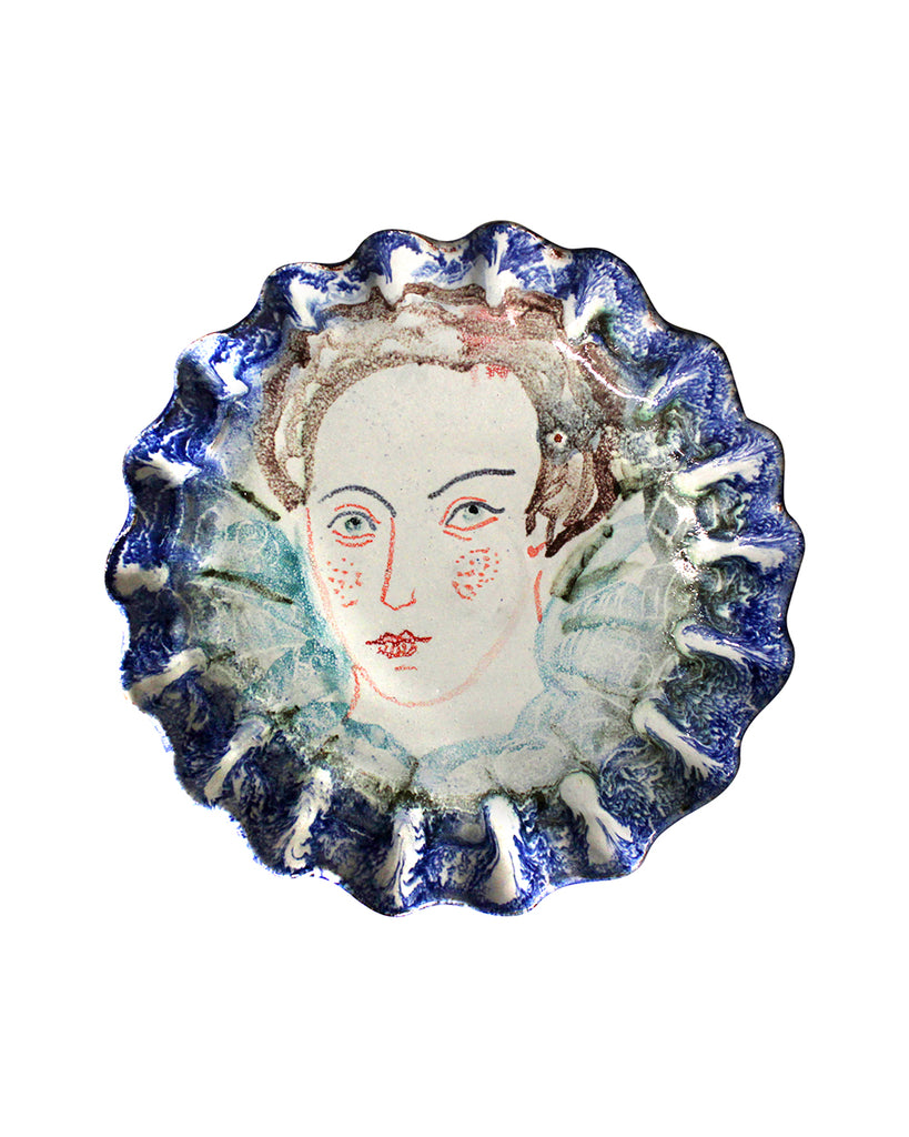 Painted Face Plate: Dorothy Huddleston