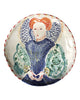 Painted Face Platter (large): Unknown Elizabethan
