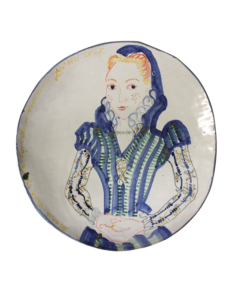 Painted Face Platter (large): Maria Potter