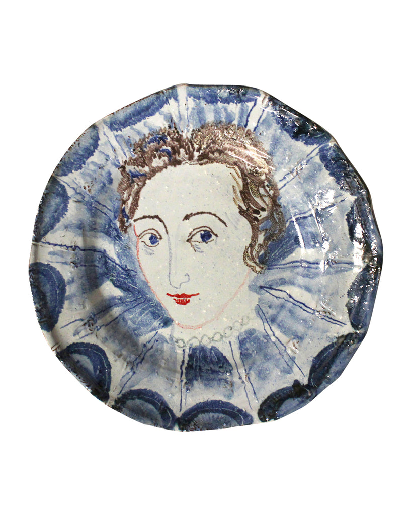 Painted Face Platter: Lady Harington