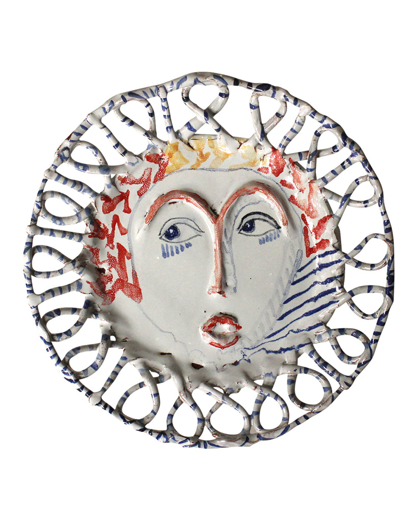 Painted Face Platter: Savage Tudor
