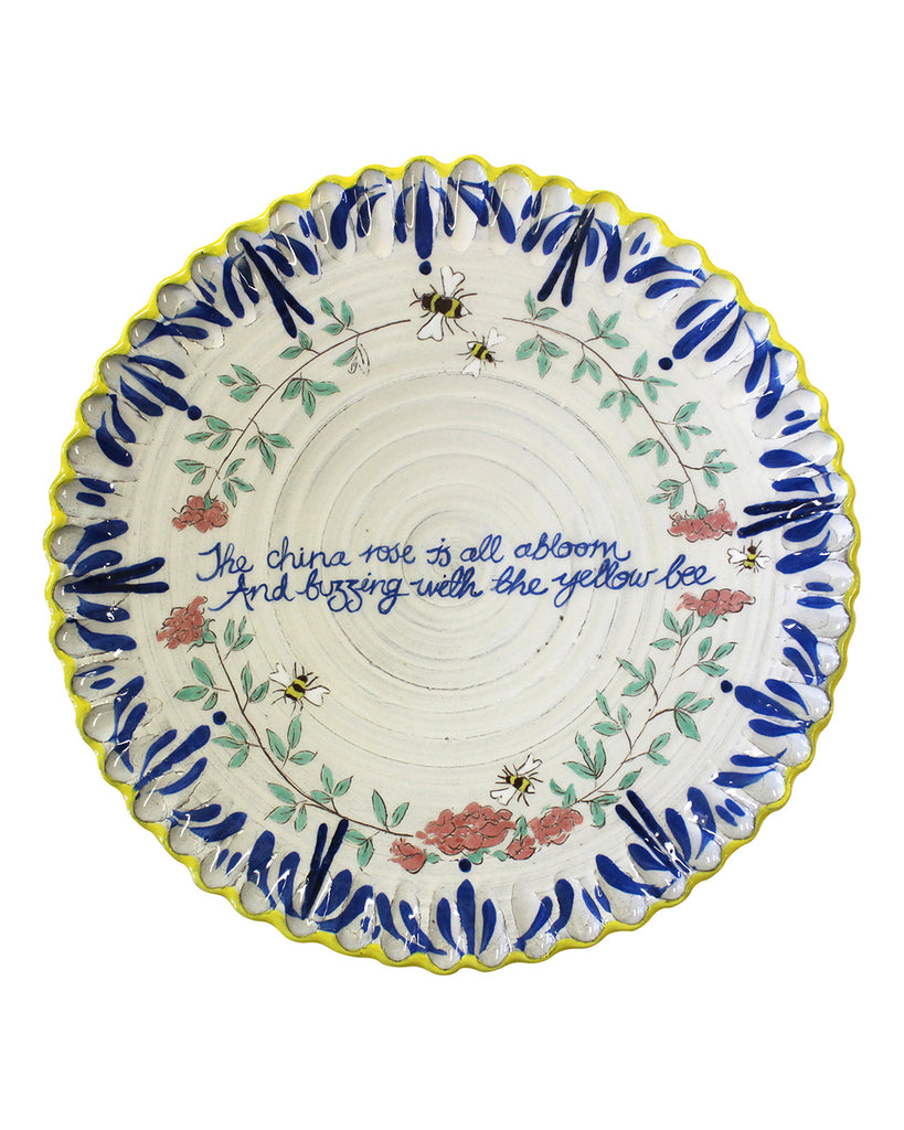 China Rose & Bee Plate