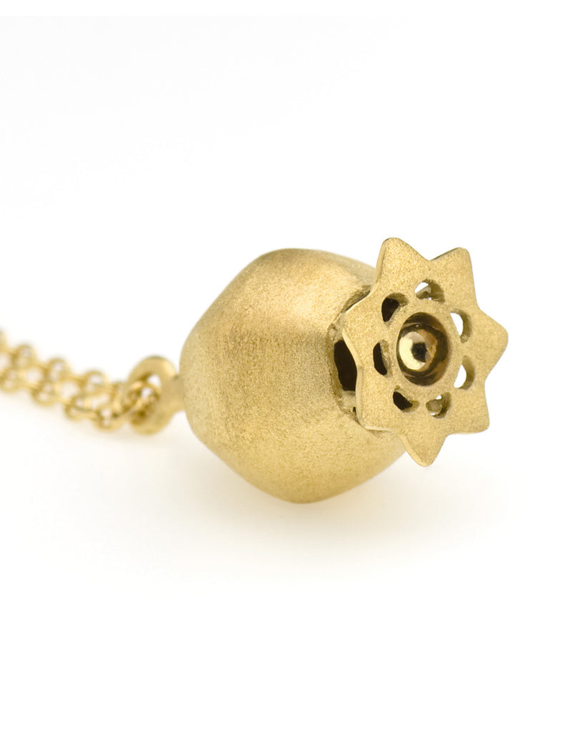V. WALKER POPPY POD NECKLACE (GOLD)