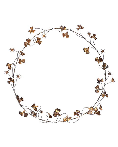 Hedgerow Wreath: SWEET PEAS & STARS No3