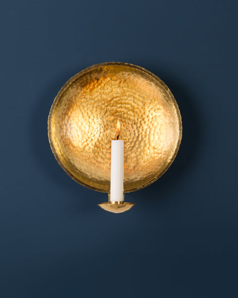 Candle Sconce: No4 Royal 21cm: Brass