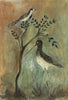 Original Painted Panel - Sandpiper & Wagtail