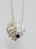 Thames Lion Necklace (silver & garnet)