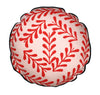 circular Cushion: Sprig Pattern (Red & PInk)