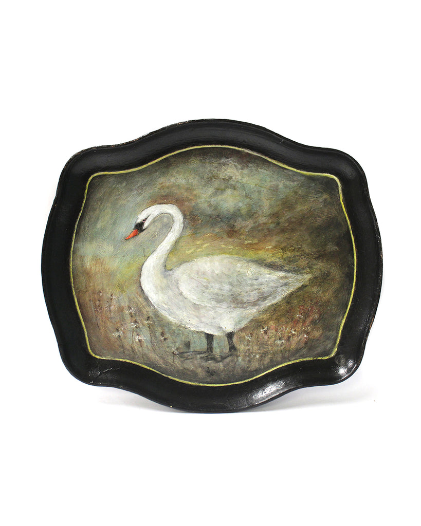 Winter Swan | Hand Painted Tray