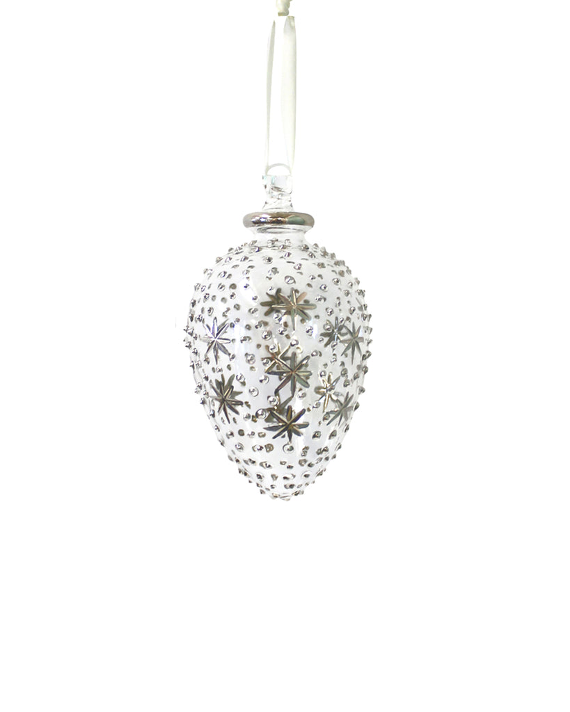 Hand Blown Decoration: Heaven (silver)