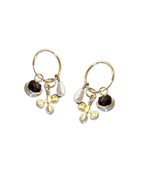 d604a5202b8c ... new zealand three treasure earrings gold 44dd7 bc021 ...