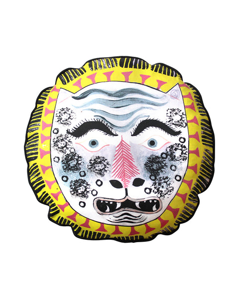 circular Cushion: Tiger Mask