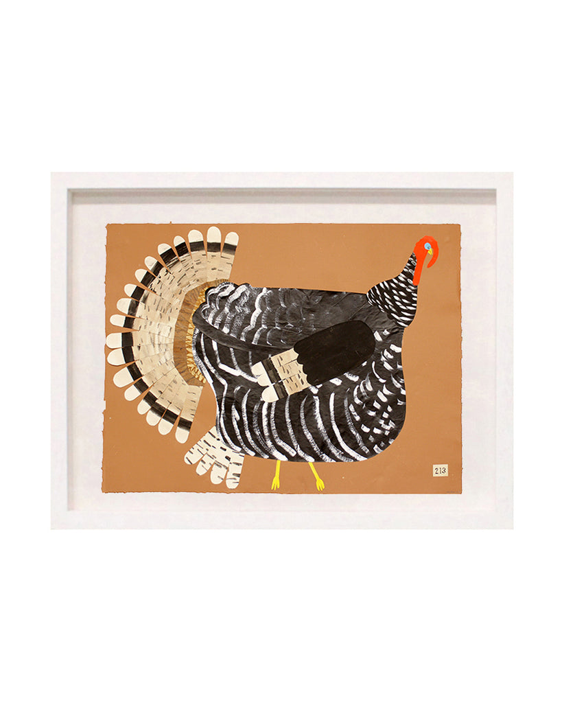 Turkey No. 213 (Large Original Framed Collage)