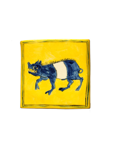 Tile: Blue Hog