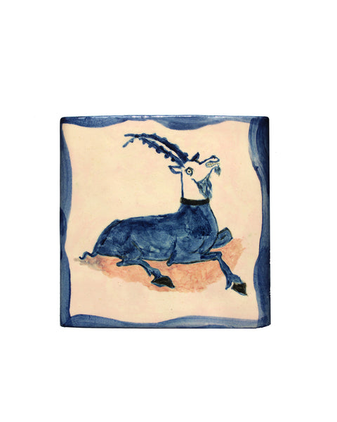 Tile: Smiling Goat