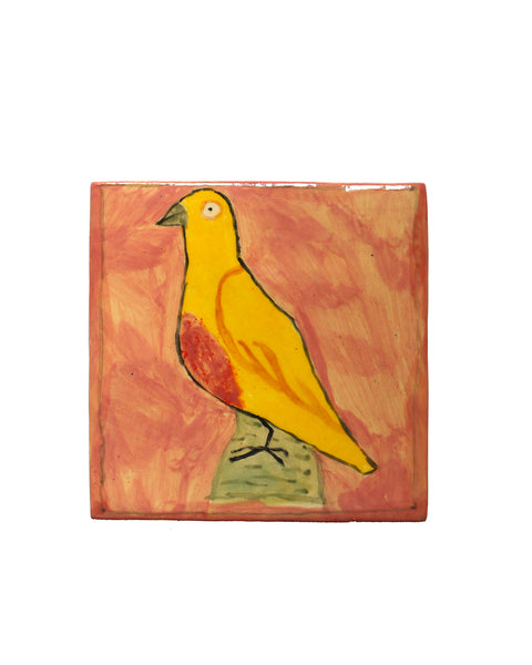 Tile: Yellow Pigeon