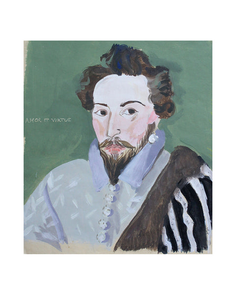 Original Painting - Sir Walter Raleigh (Framed)