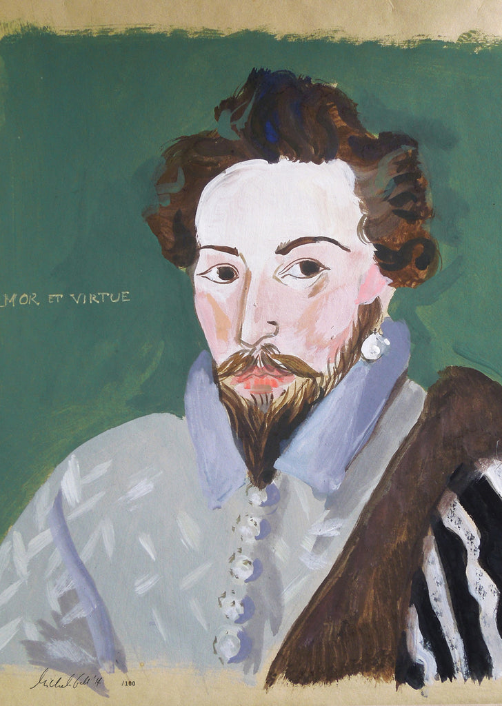 Painted Portrait Sir Walter Raleigh