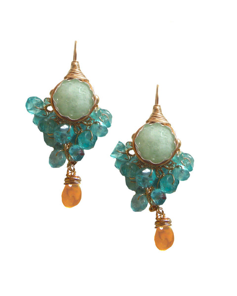 NEW BAROQUE Water Cluster earrings