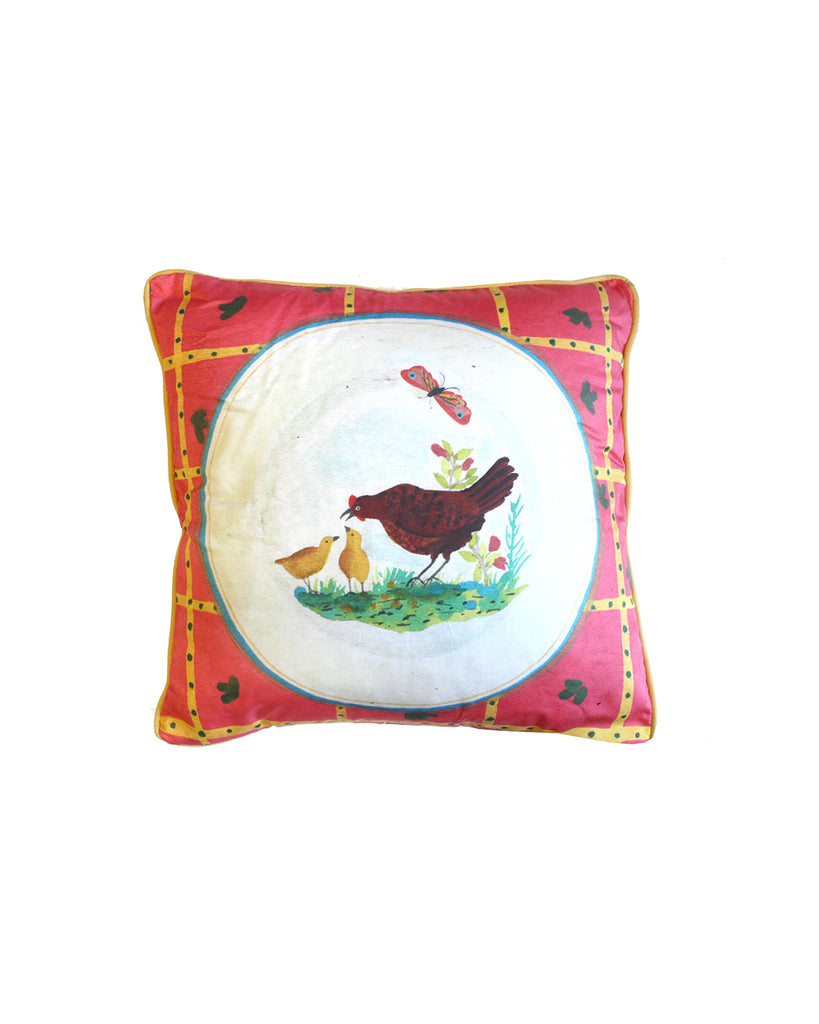 Hen and Chicks Cushion Cover