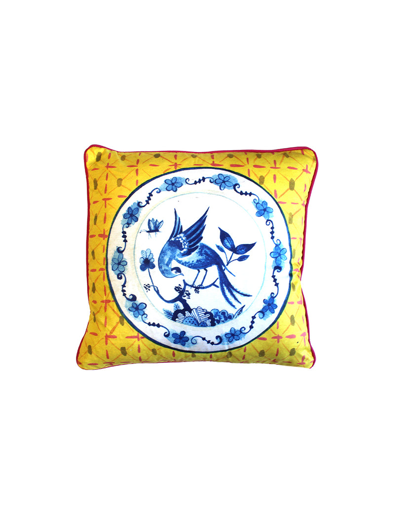 Peacock and Moth Cushion Cover