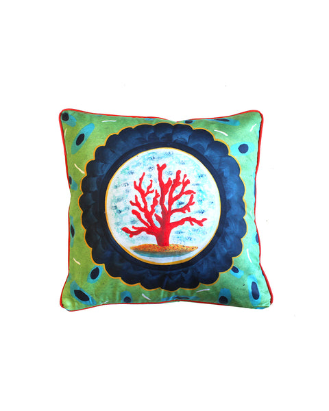 Coral Treasure Cushion Cover