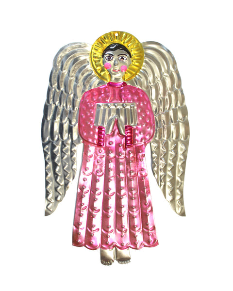 Tin Decoration Angel (Pink pop)