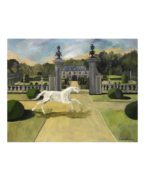 OIL PAINTING | The White Horse