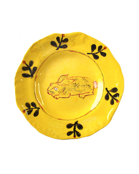 Yellow Rabbit Plate