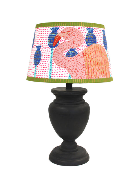 Painted Lampshade: FLAMINGO IN THE SEED PODS