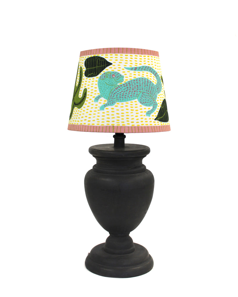 Painted Lampshade: OtterS WITH SEAWEED
