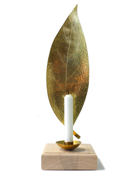 Leaf Candle Sconce - Avocado