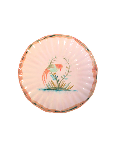 Bird in bush plate
