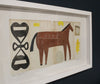 Framed Collage: Black Country Horse 6