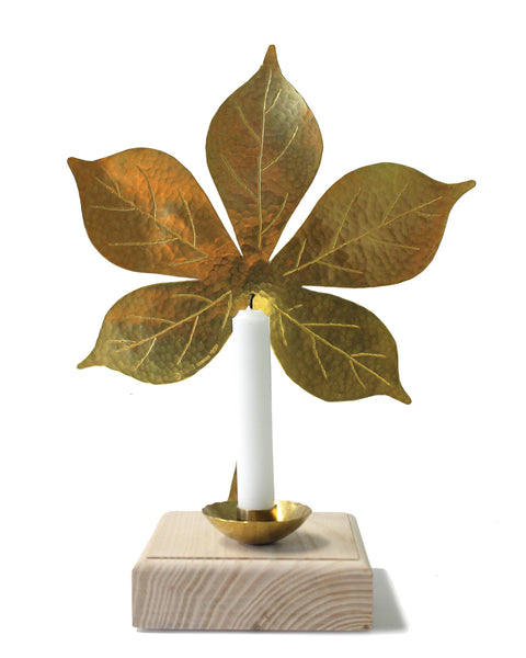 Leaf Mantle Sconce - Chestnut