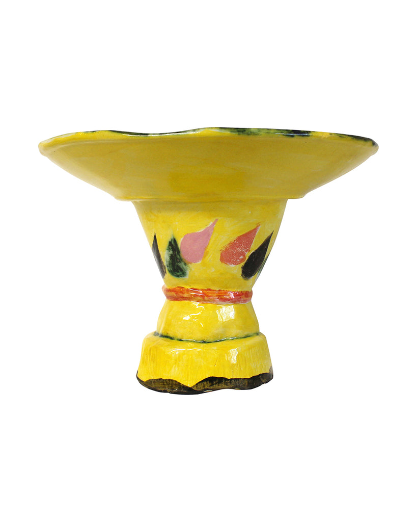 Mexican Mask Pedestal Bowl