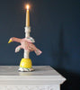 Pink Bird on the Wing Candlestick