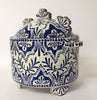 Large Lidded Delft Pot with Ears