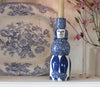 Blue Poodle Candle Holder