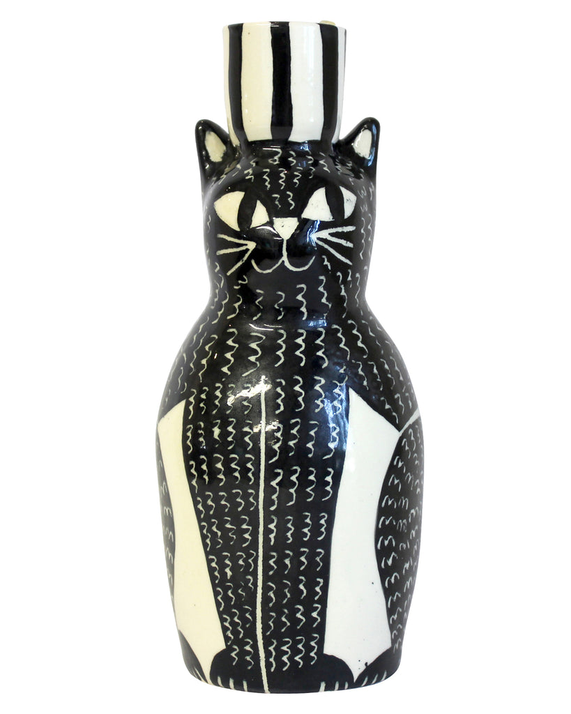 The Cat (Monochrome) Candle Holder
