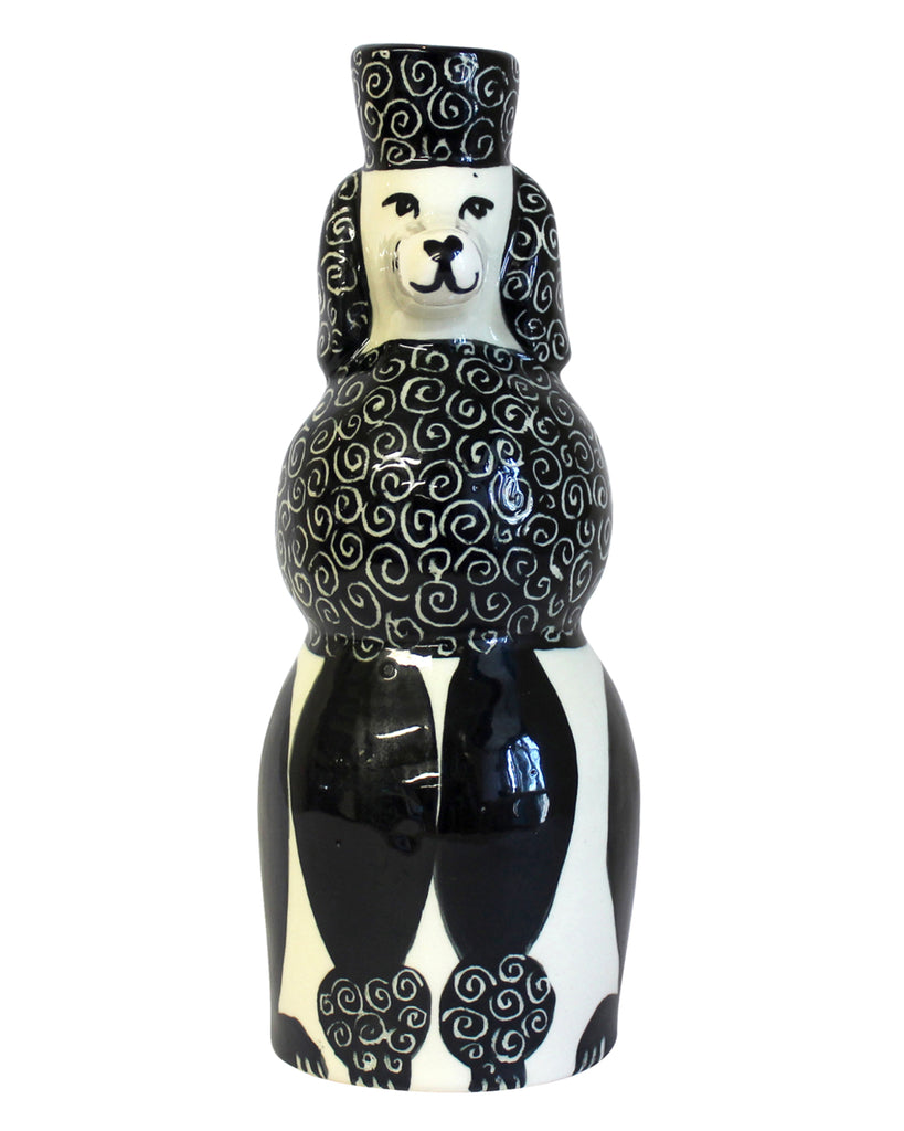 The Poodle (Monochrome) Candle Holder